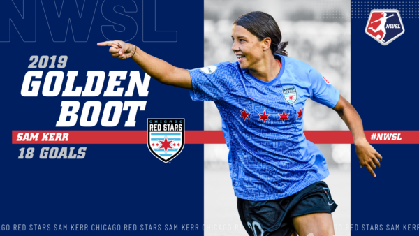 2019 NWSL Golden Boot: Sam Kerr, Chicago Red Stars