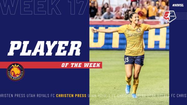 Christen Press, Utah Royals FC | Week 17  Player of the Week