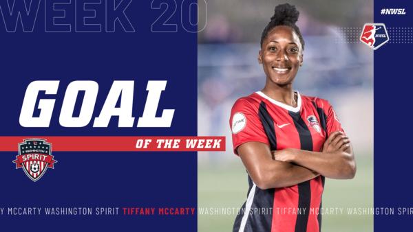 Tiffany McCarty, Washington Spirit | Week 20 Goal of the Week