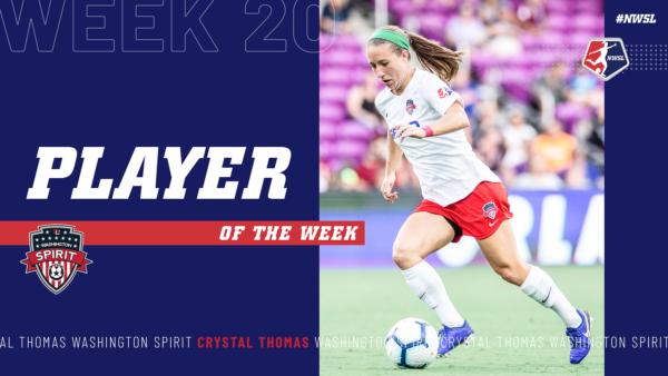 Crystal Thomas, Washington Spirit | Week 20 Player of the Week
