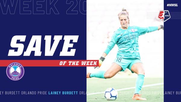 Lainey Burdett, Orlando Pride | Week 20 Save of the Week