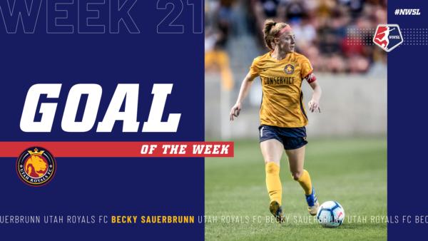 Becky Sauerbrunn, Utah Royals FC | Week 21 Goal of the Week