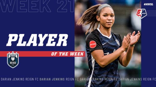 Darian Jenkins, Reign FC | Week 21 Player of the Week