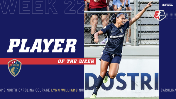 Lynn Williams, North Carolina Courage | Week 22 Player of the Week