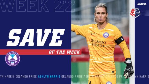Ashlyn Harris, Orlando Pride | Week 22 Save of the Week