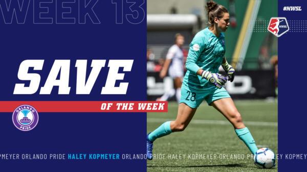Haley Kopmeyer, Orlando Pride | Week 13 Save of the Week