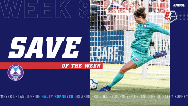 Haley Kopmeyer, Orlando Pride | Week 9 Save of the Week