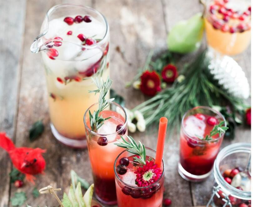 Picture of festive holiday cocktails