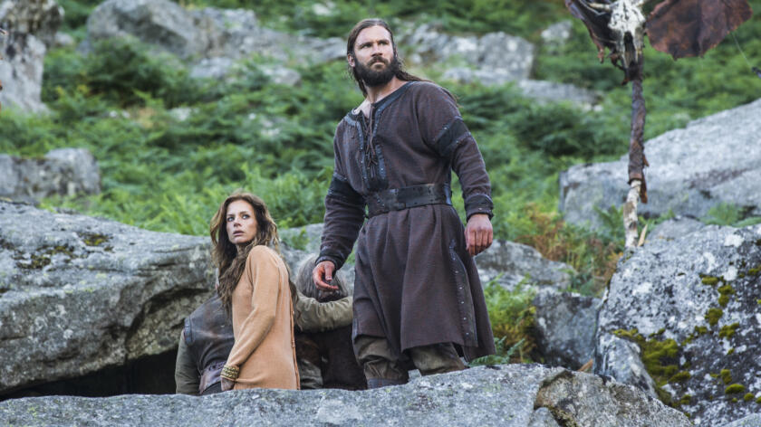 Jessalyn Gilsig as Siggy and Clive Standen as Rollo