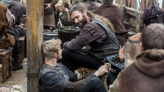 Alexander Ludwig as Bjorn, Clive Standen as Rollo, Vikings
