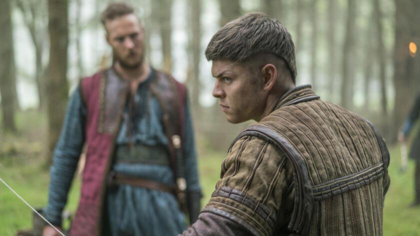 Jordan Patrick Smith as Ubbe and Alex Høgh Andersen as Ivar, Vikings