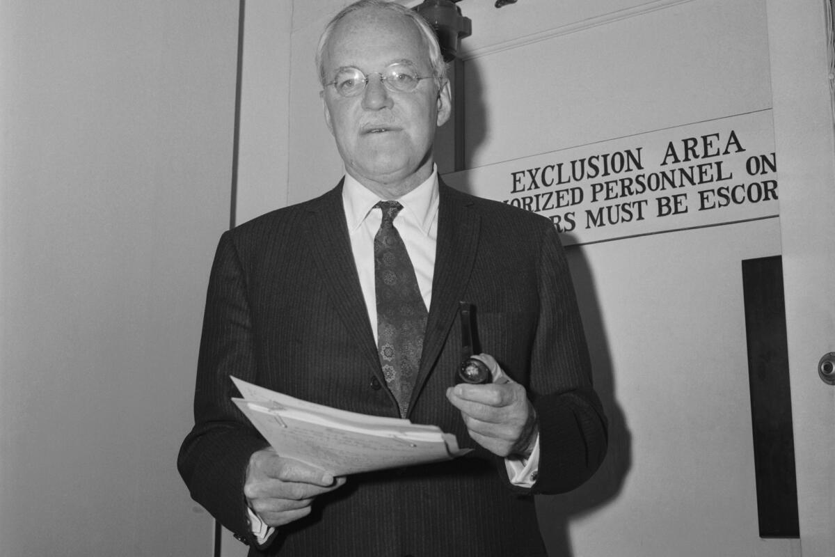 Allen W.Dulles, director of the Central Intelligence Agency