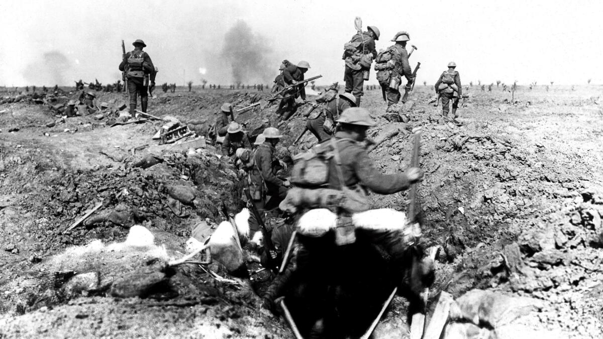 British troops during the Battle of Morval, 1916