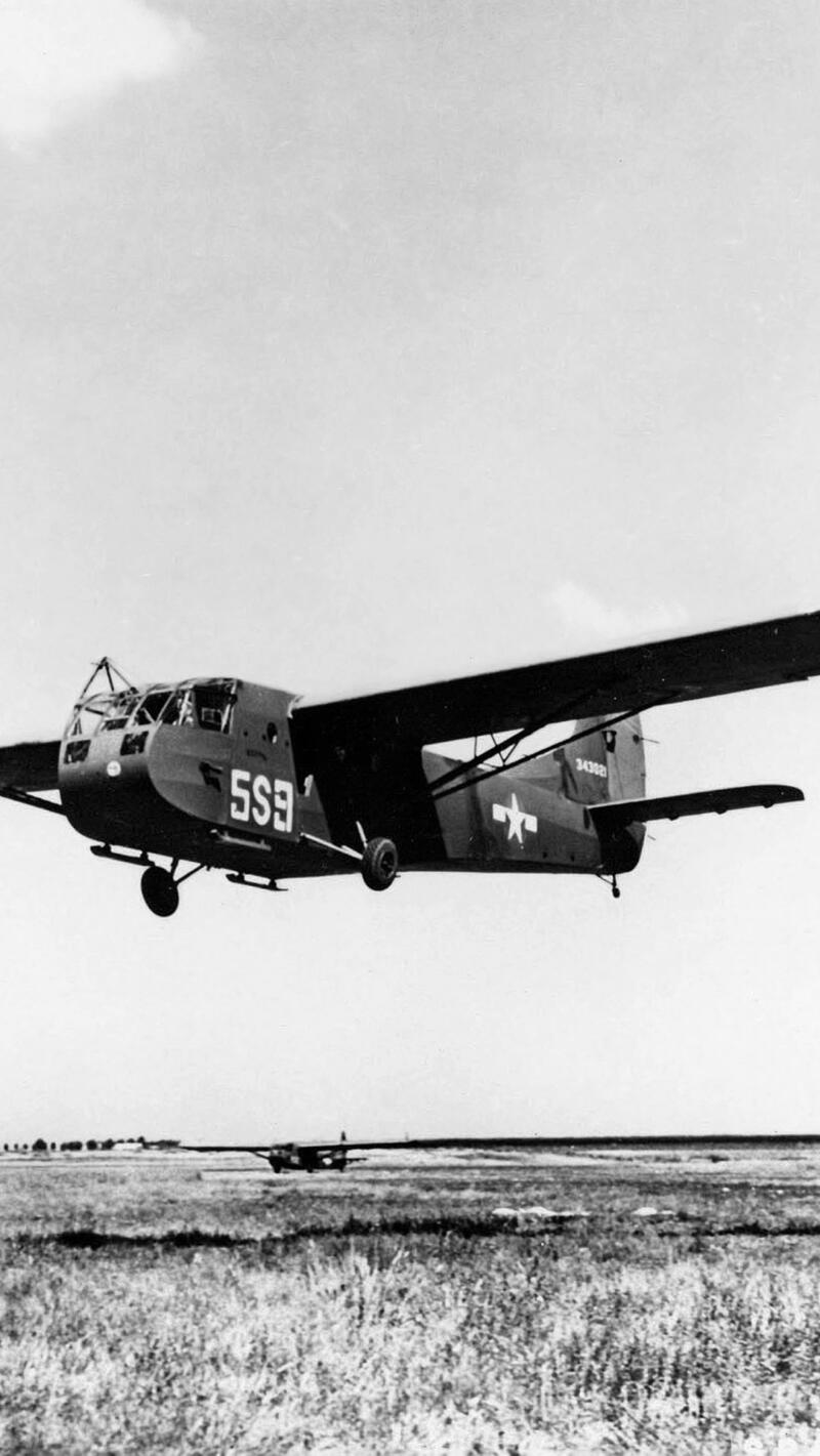 The U.S. Army Air Force Wace CG-4A glider.