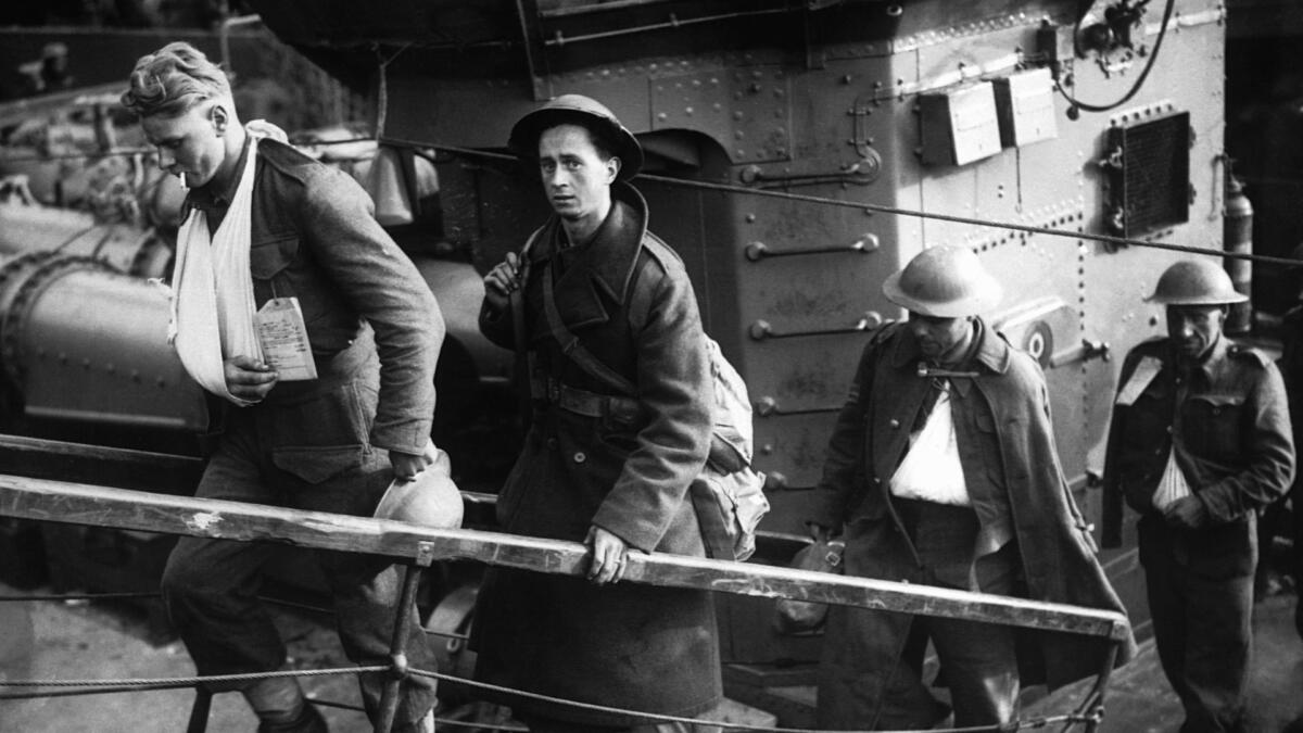 British soldiers returning home.