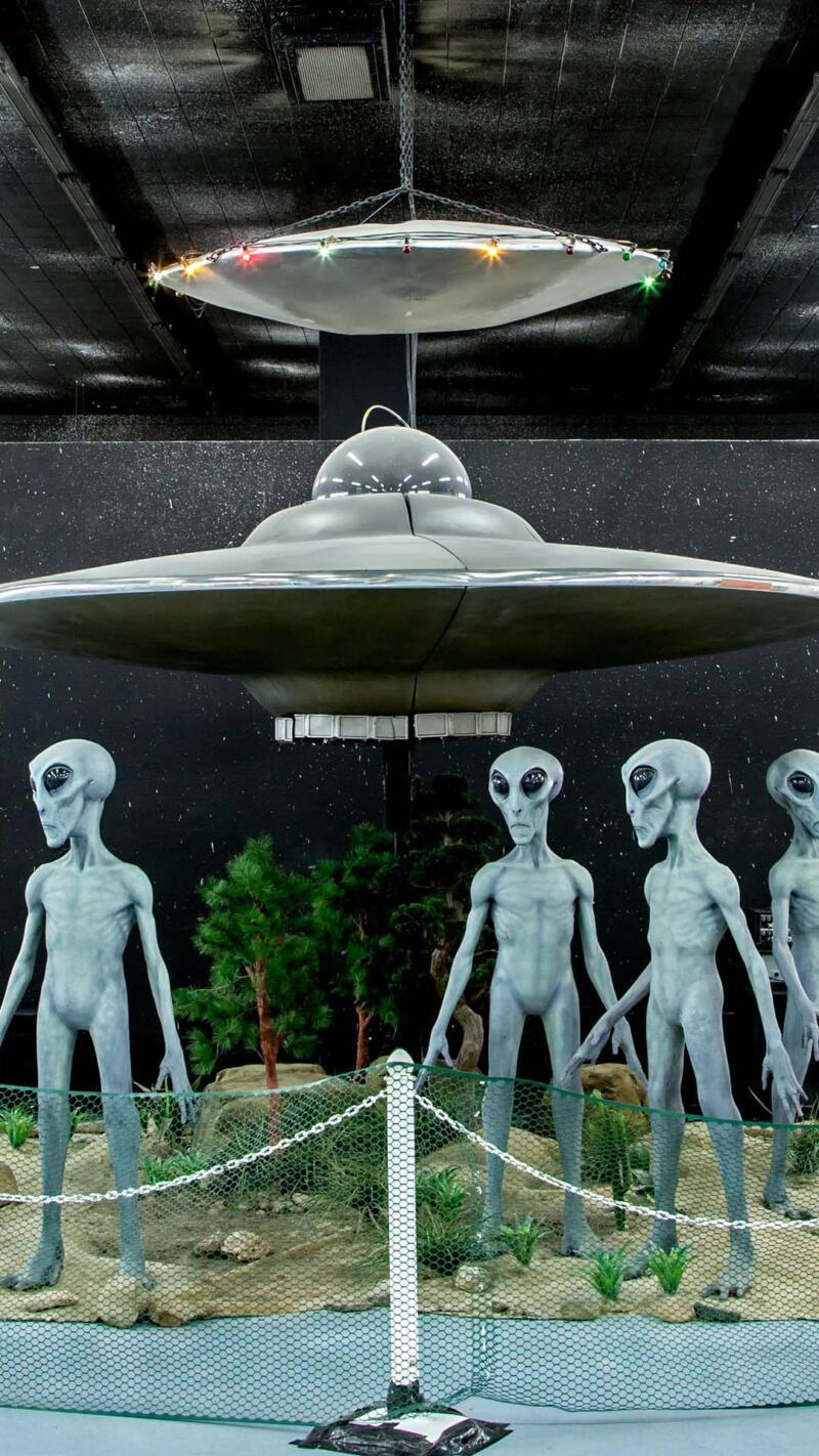 Exhibit at the UFO Museum