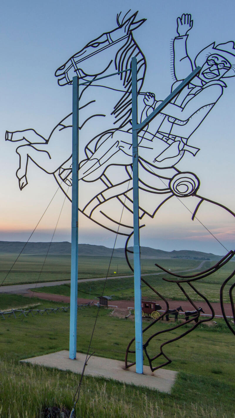 Sculpture along the Enchanted Highway