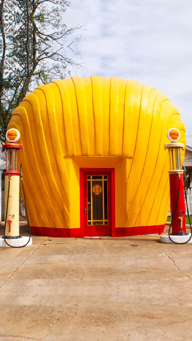 Last remaining original Shell Gas Station in Winston Salem North Carolina