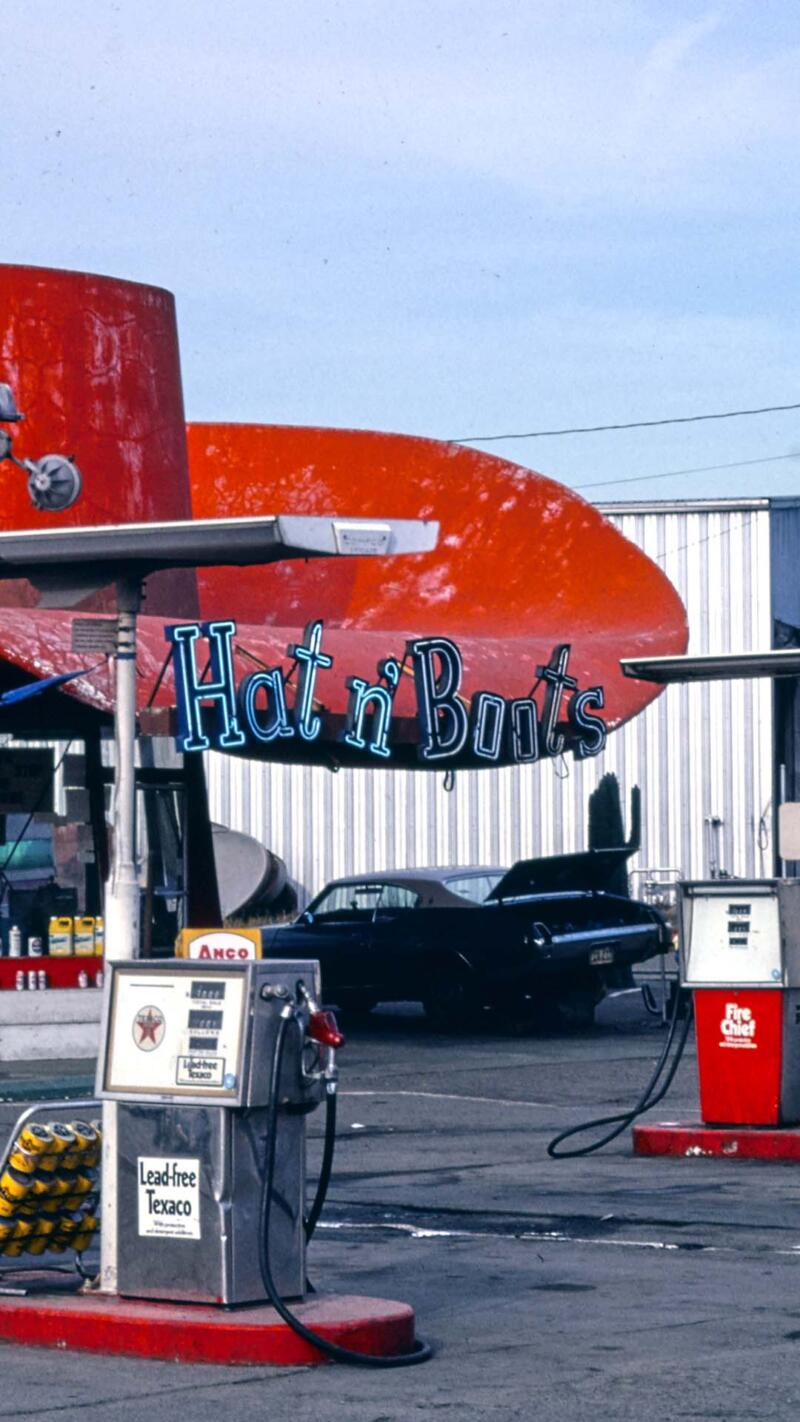 Hat & Boots was built in 1954 in Seattl