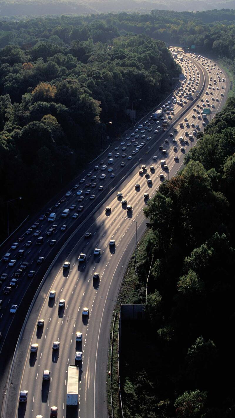 Traffic on the Washington DC Beltway