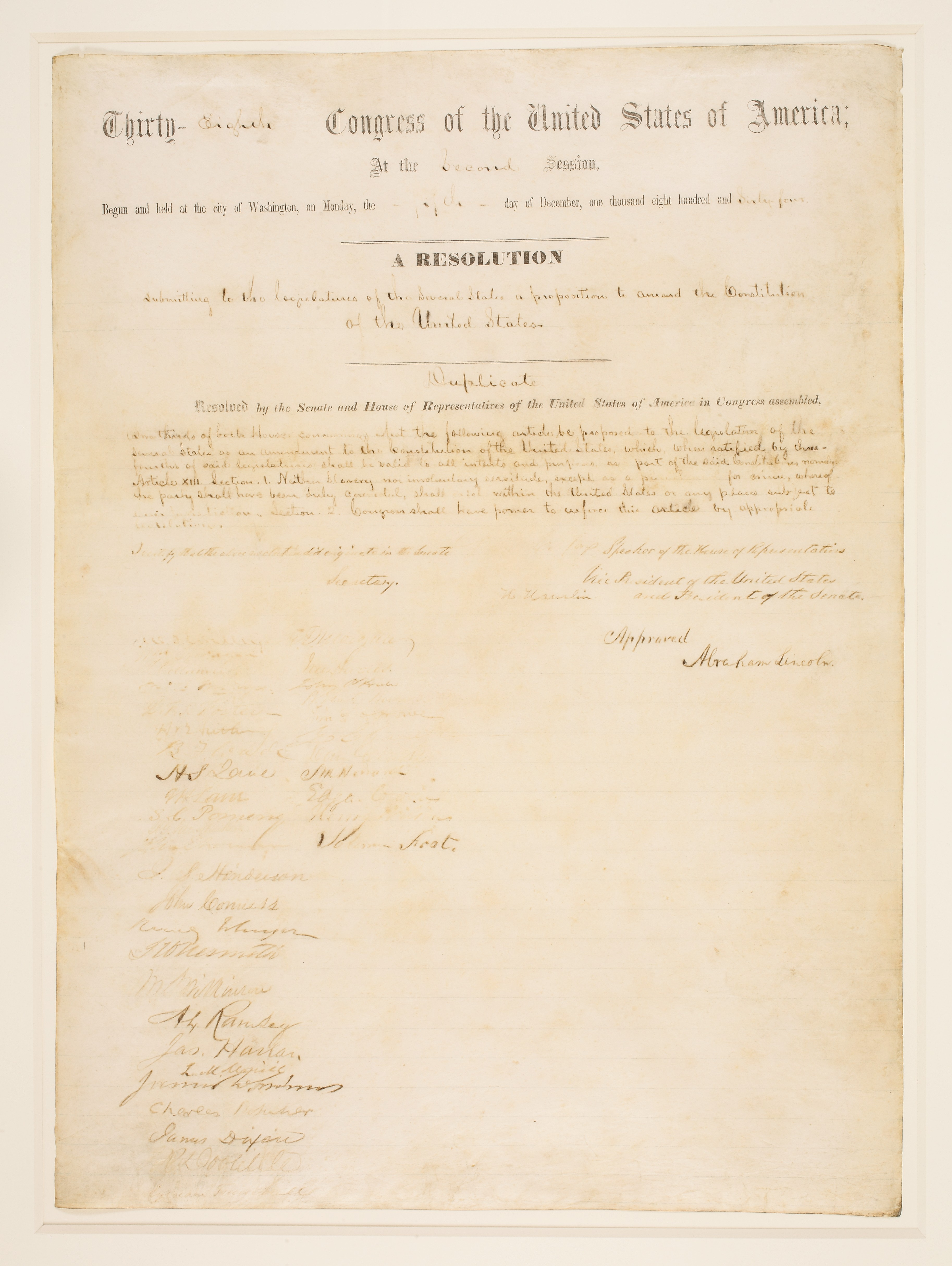 Upcoming Auction Spans 200 Years of U.S. History