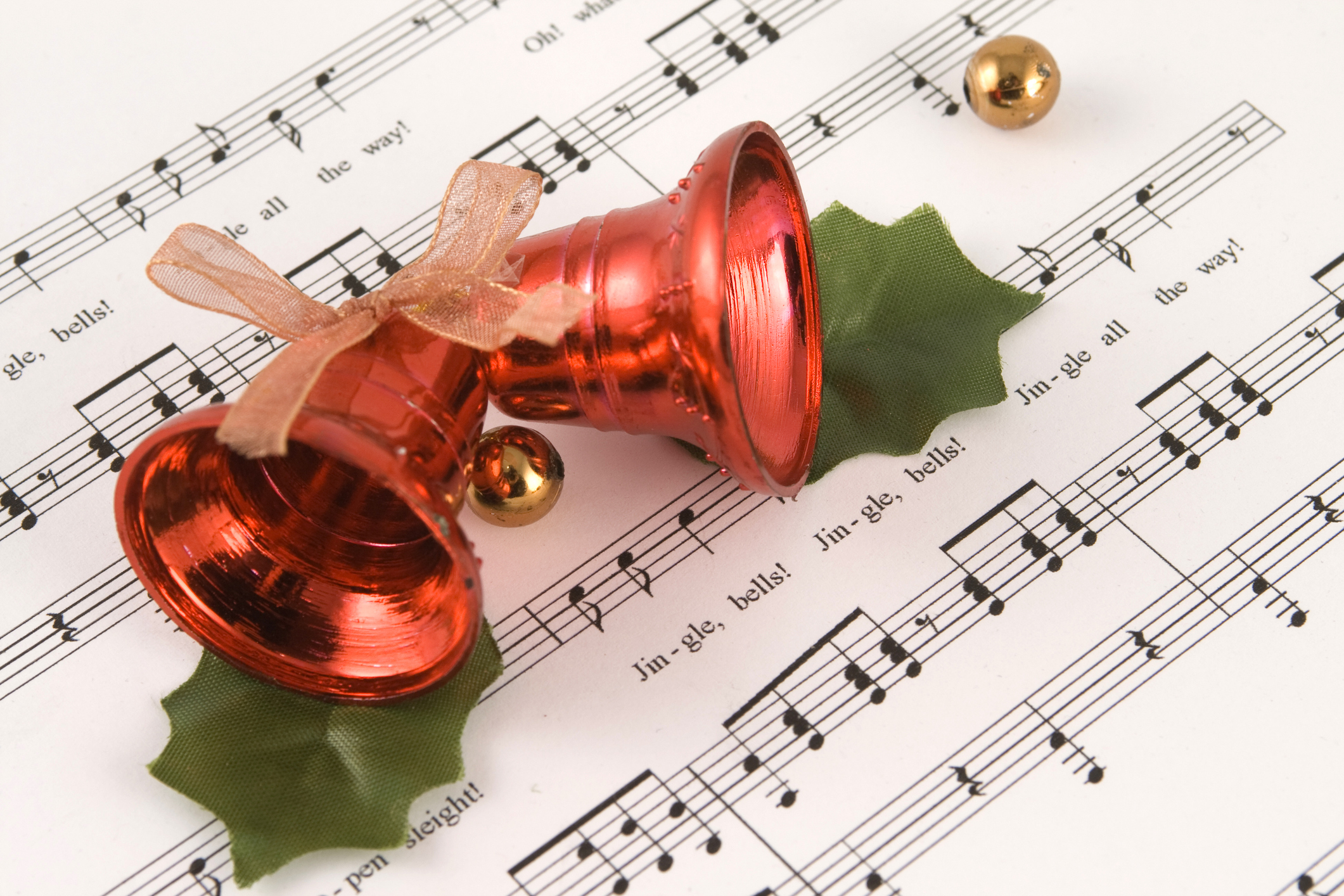 Jingle bells Christmas sleigh bells SET OF 2