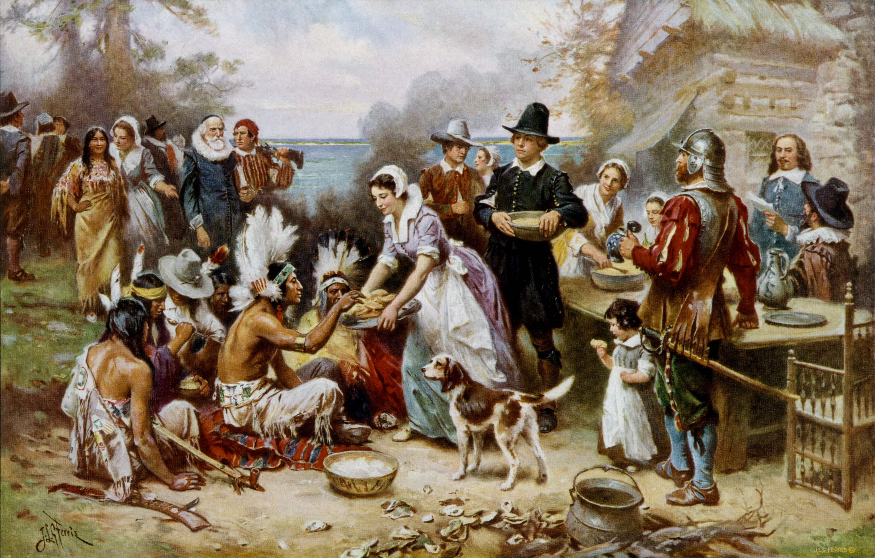 How many people were at the first Thanksgiving?
