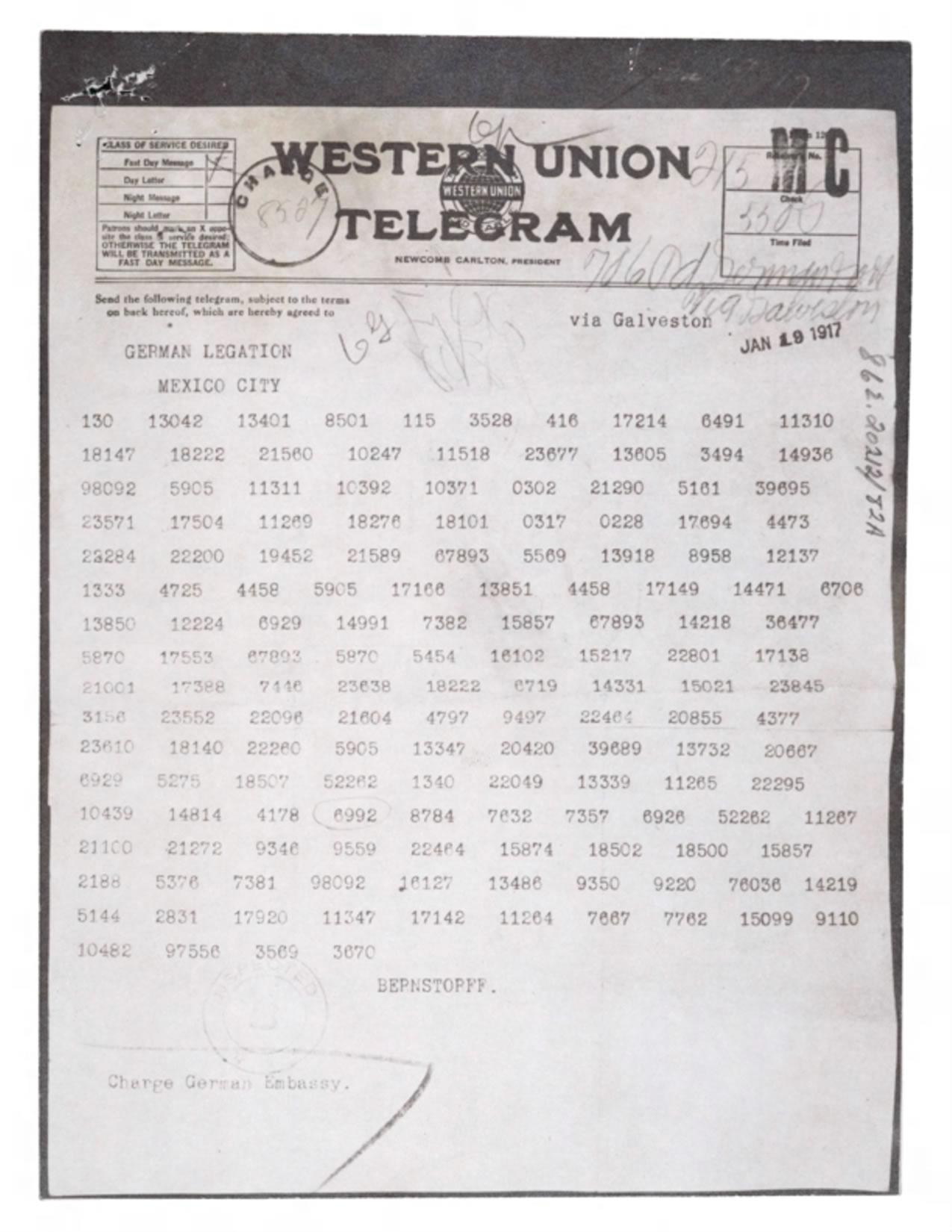 The Secret History of the Zimmermann Telegram - HISTORY