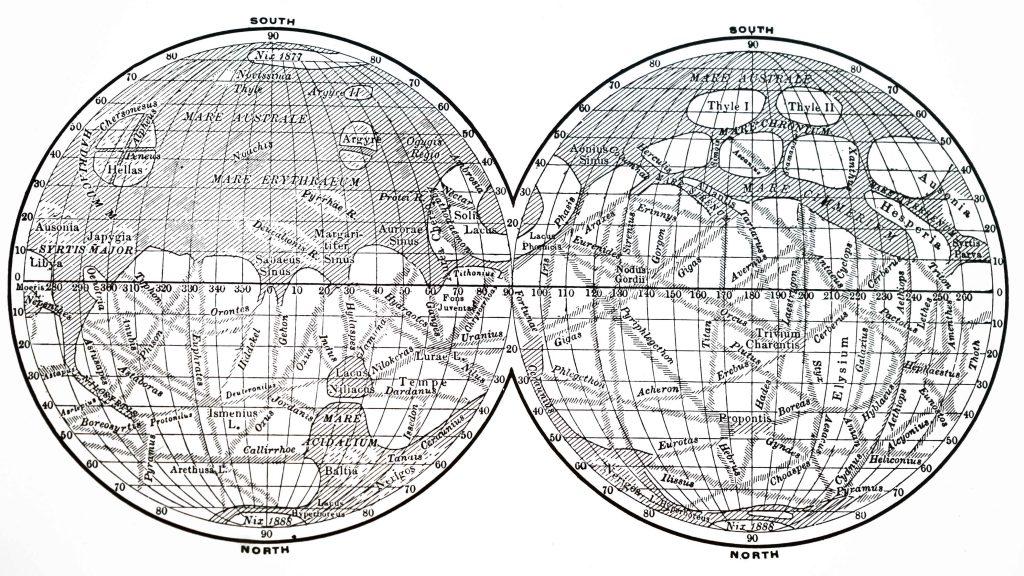 Giovanni Schiaparelli Map of Mars