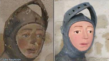 Tintin, Is That You? Botched Restoration of St. George Figure Causes Uproar
