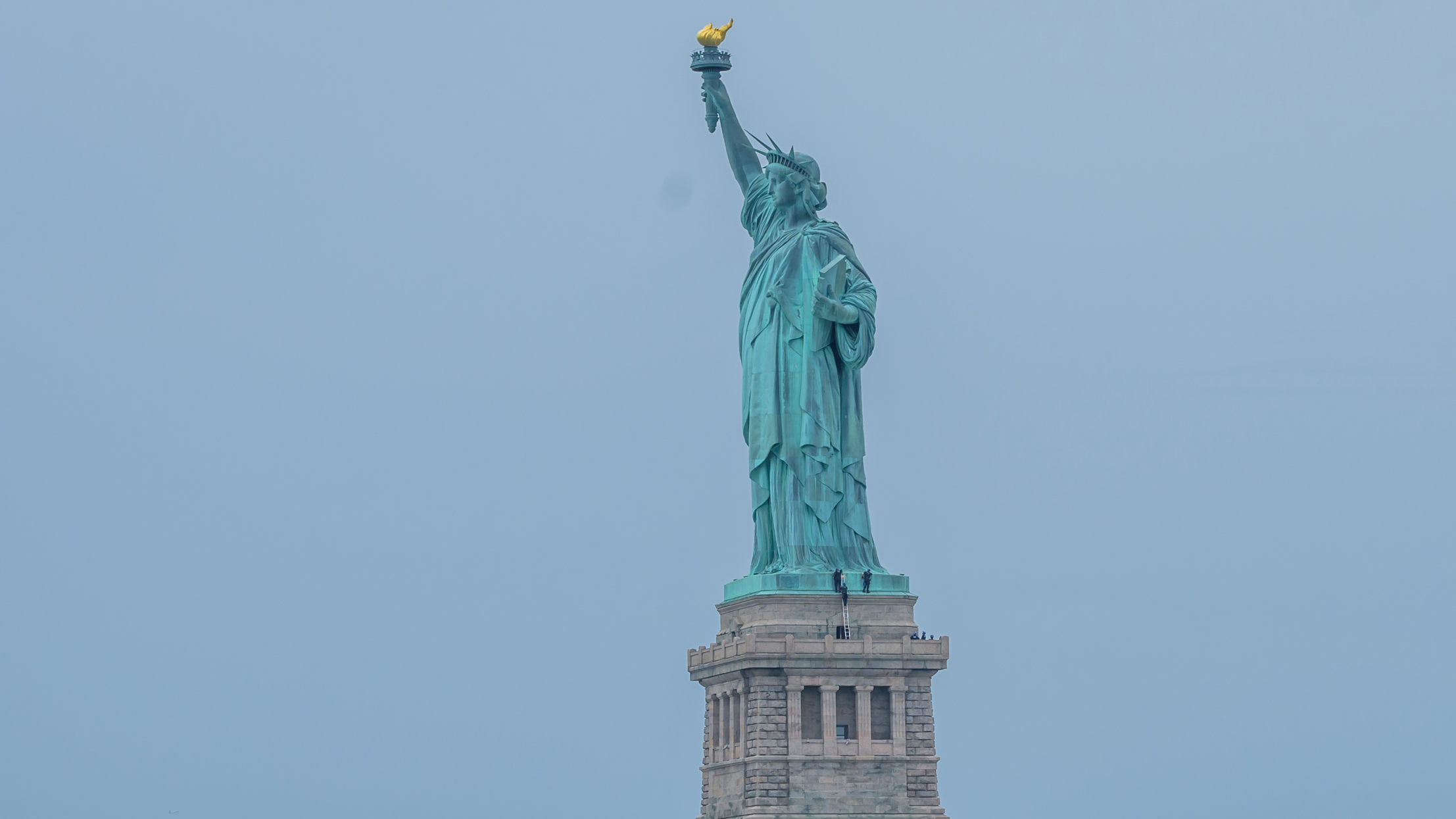 The Statue of Liberty Has Long Been a Magnet for Protest