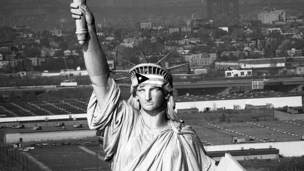 Satatue Of Liberty With Puartarican Flag Tattoo: The Statue Of Liberty Has Long Been A Magnet For Protest