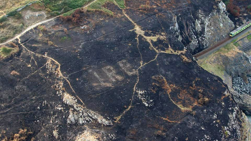 Wildfire Reveals Hidden WWII Message to Bombers Overhead