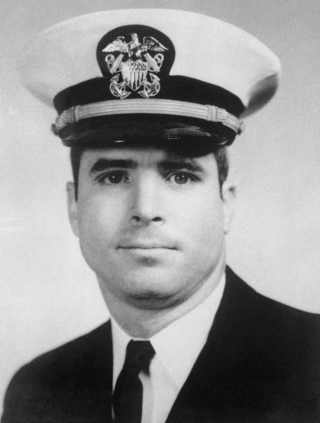 U.S. Navy flier Lt. Commander John McCain