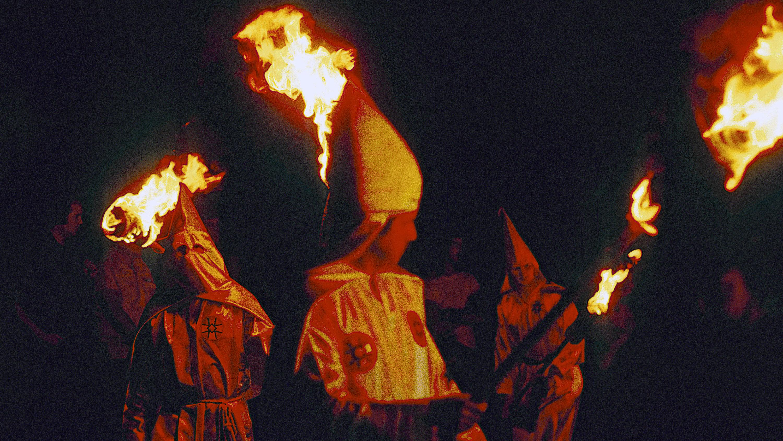 A Ku Klux Klan rally circa 1980