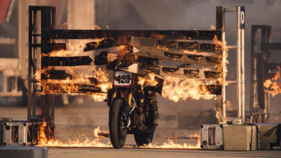 Vicki Golden Sets New Motorcycle Firewall Record
