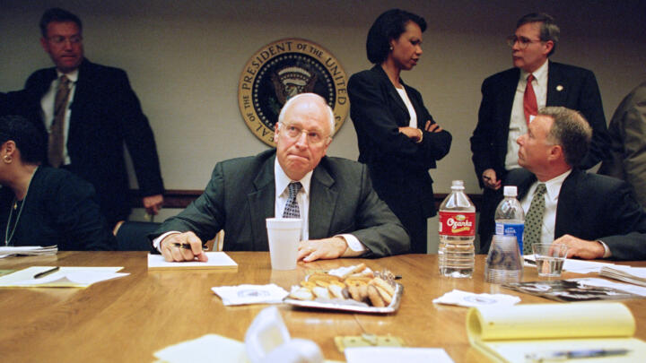 Vice President Dick Cheney at his desk