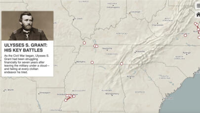An Interactive Map of His Key Civil War Battles