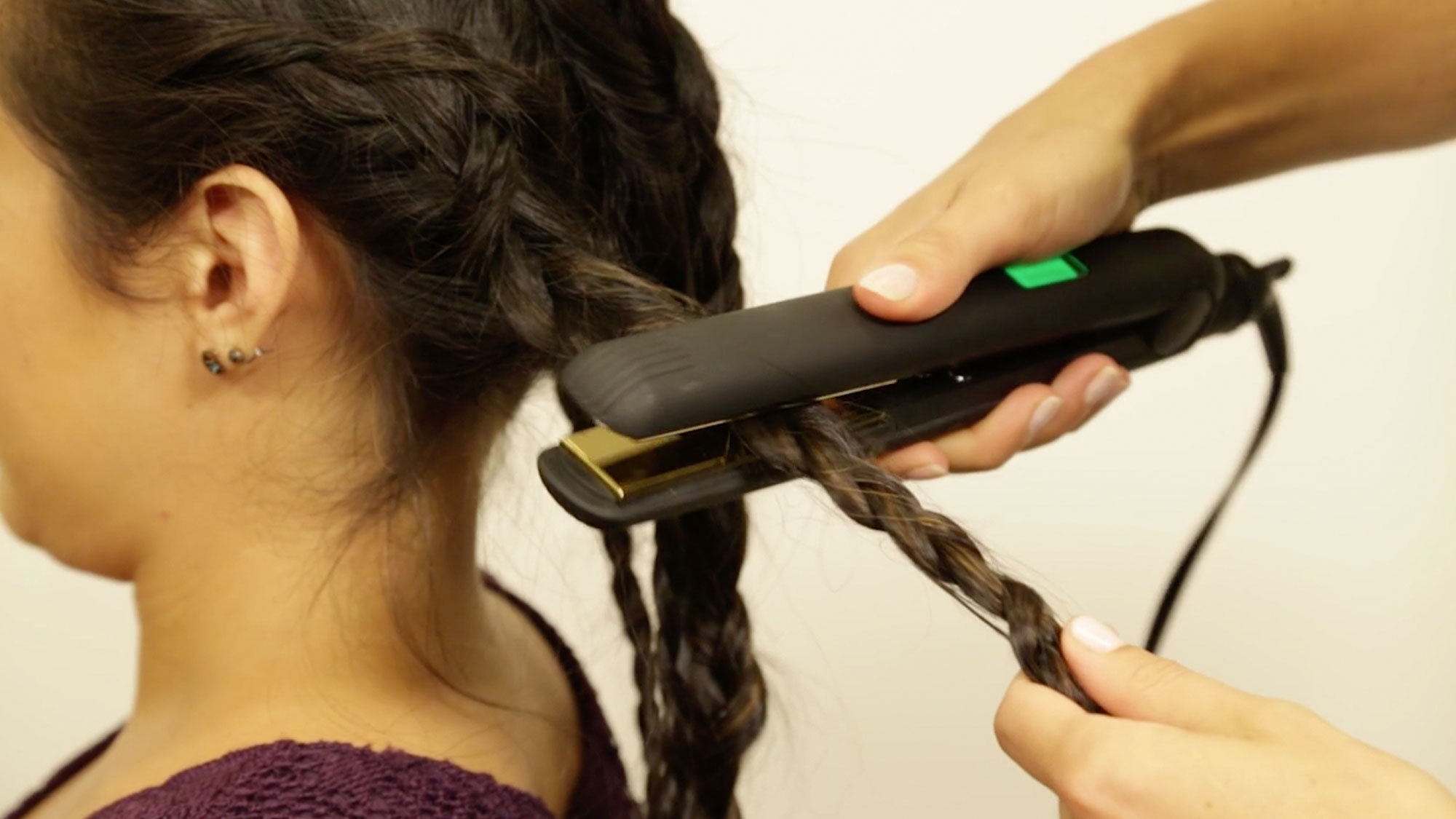 3 Steps to Easy Waves with Flat Iron Braids
