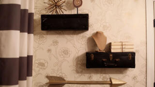 Nicole and Jionni's DIY Hack of the Week: Vintage Suitcase Shelves