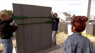 Nicole and Jionni's DIY Hack of the Week: Wood Plank Shore Headboard