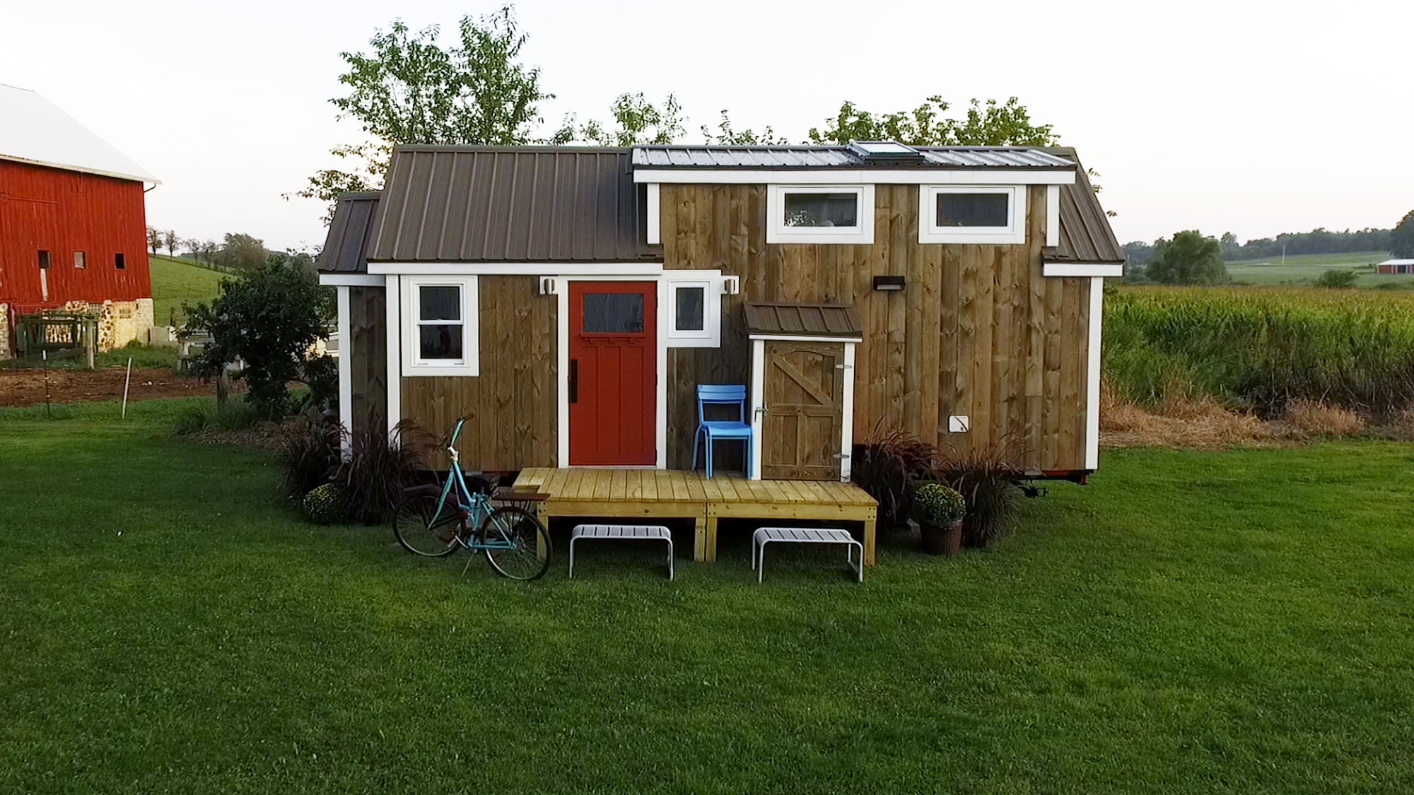 Tiny House Tour: Rustic Bike House