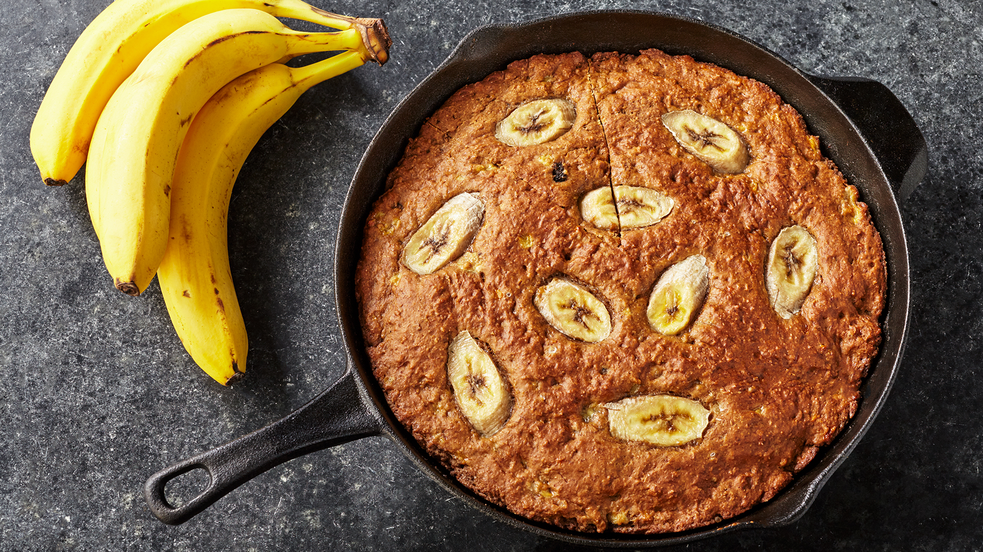 Brown Banana Skillet Bread Recipe