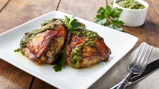 Chicken Thighs with Scrappy Green Sauce Recipe