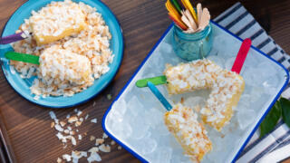 Backyard Citrus Coconut Ice Pop