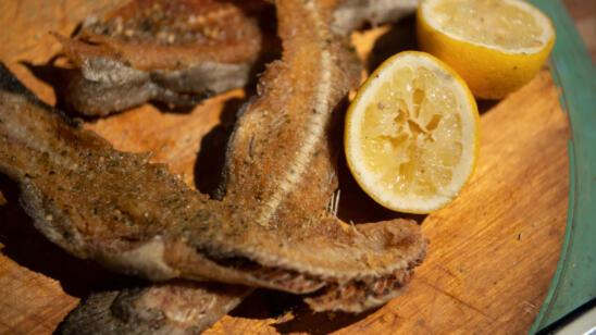 Fried Fish Bones + Smoked Fish