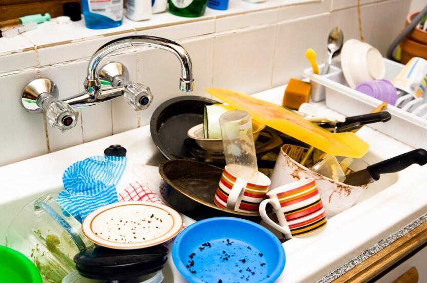 Dirty Messy Kitchen Sink
