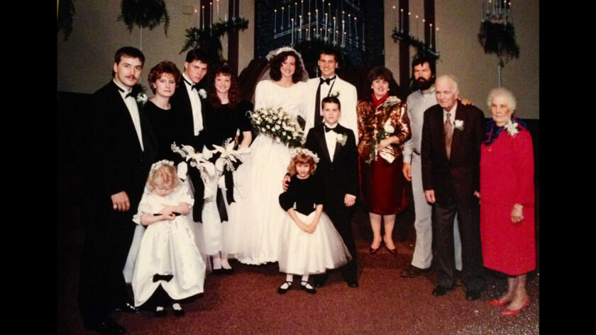Old photo of Willie and Korie Robertson from Duck Dynasty on their wedding day