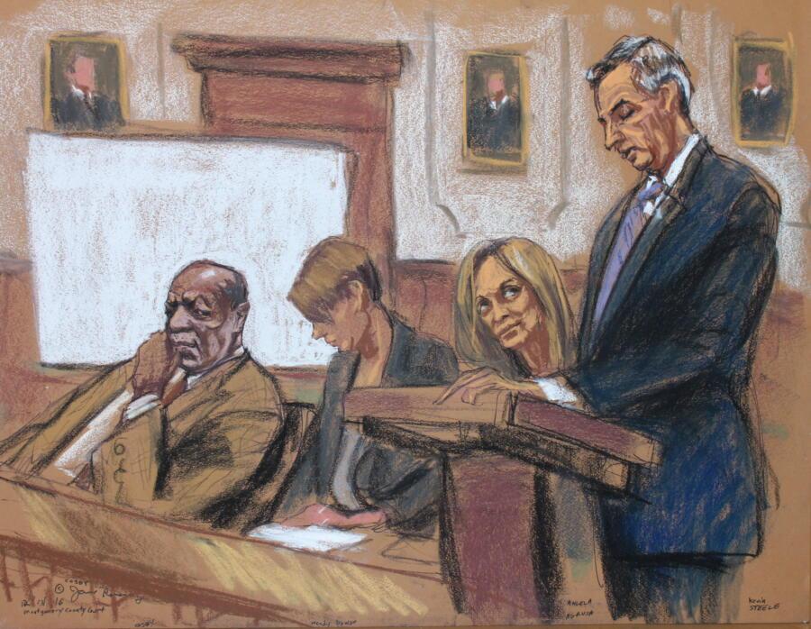 Bill Cosby courtroom sketch courtesy of Jane Rosenberg