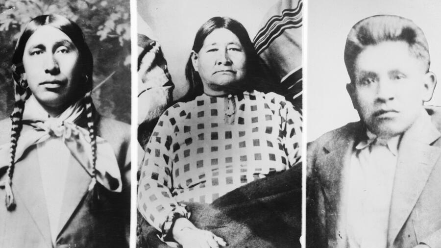 Portraits of Three Osage Indians